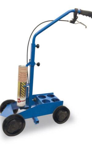 Carrito para marcar el suelo con pintura